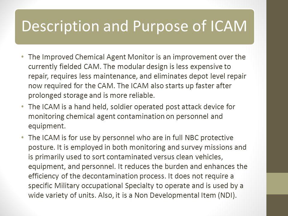 Description and Purpose of ICAM