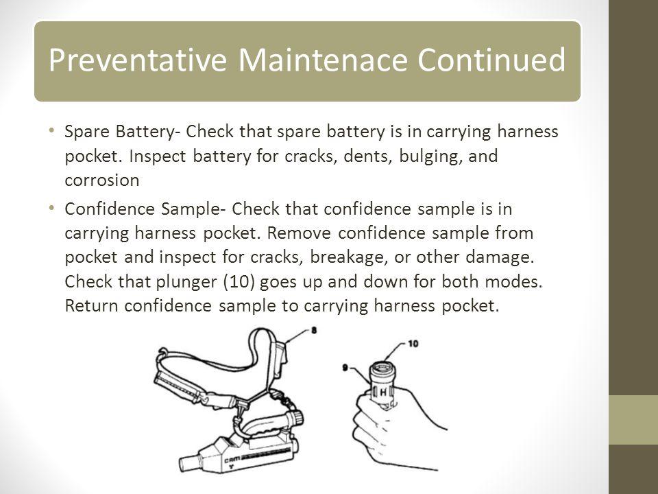 Preventative Maintenace Continued