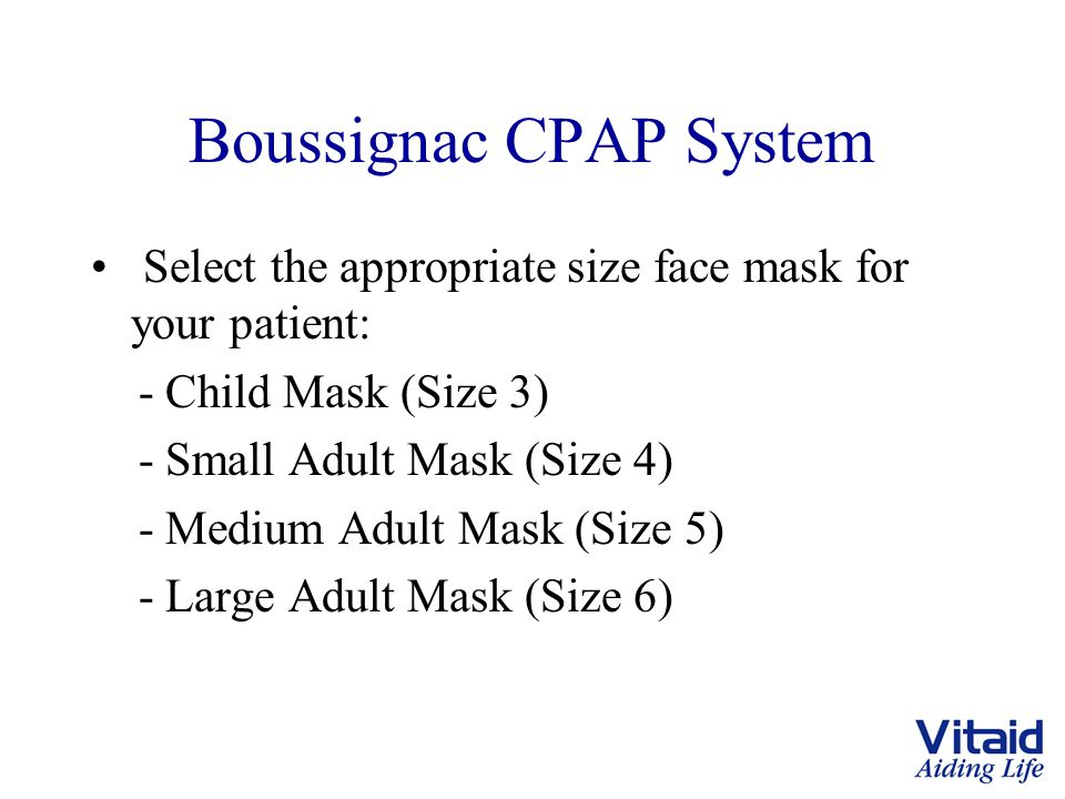 Boussignac CPAP System