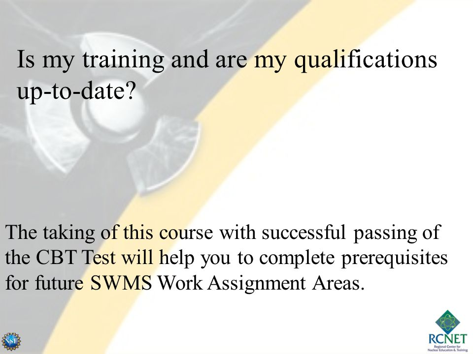 Is my training and are my qualifications up-to-date