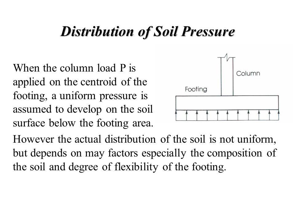 Distribution of Soil Pressure