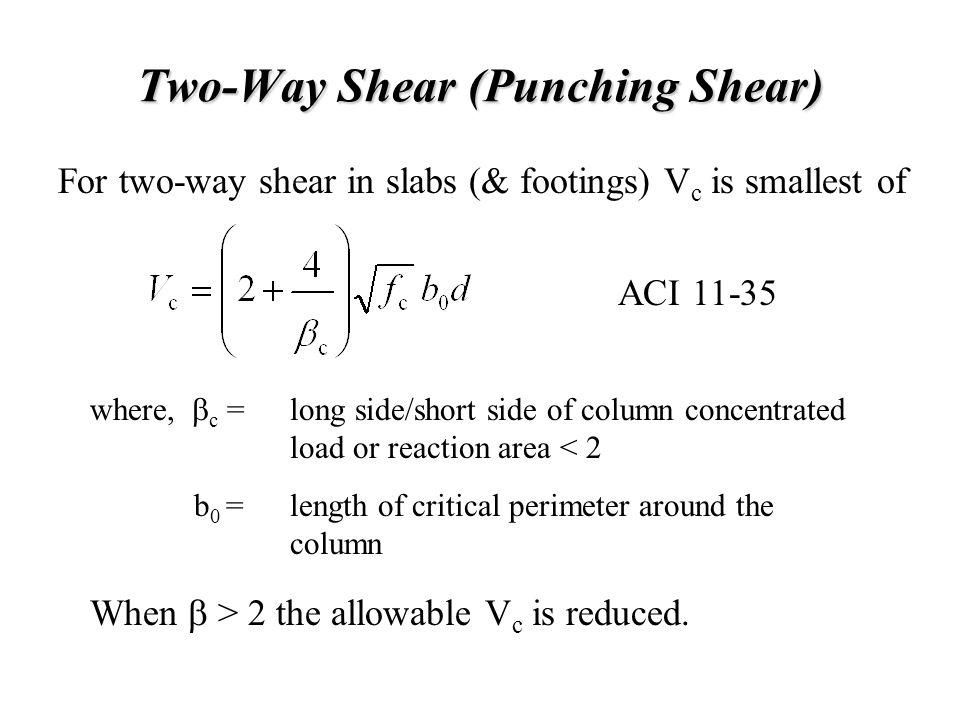 Two-Way Shear (Punching Shear)