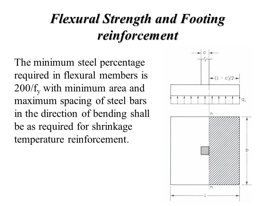 Flexural Strength and Footing reinforcement