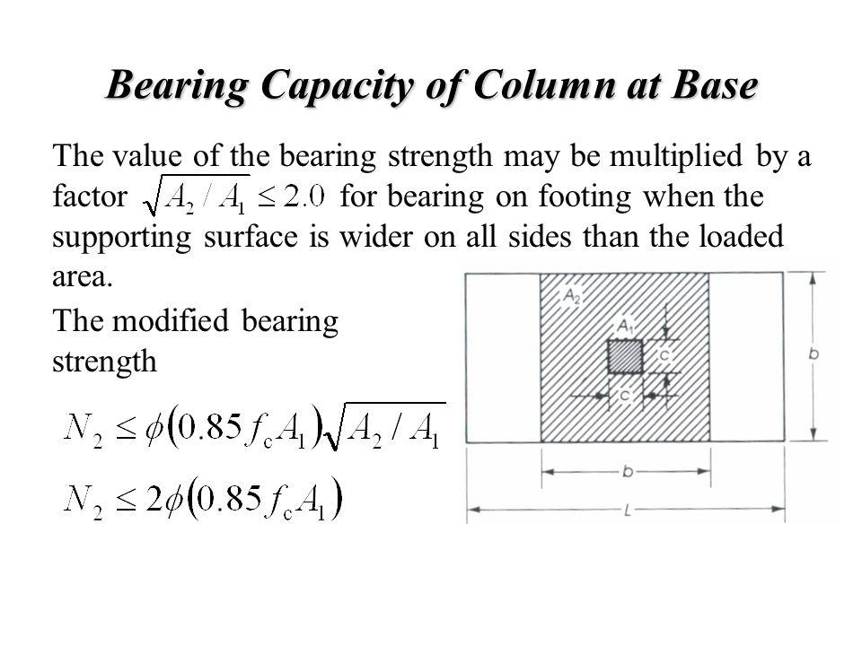 Bearing Capacity of Column at Base