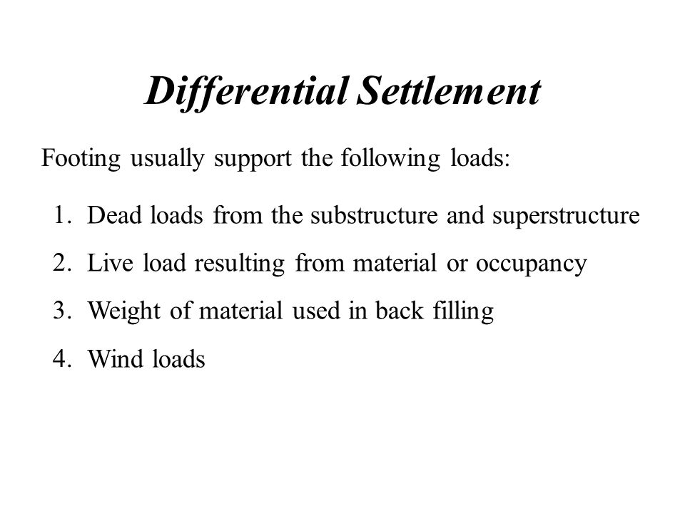 Differential Settlement