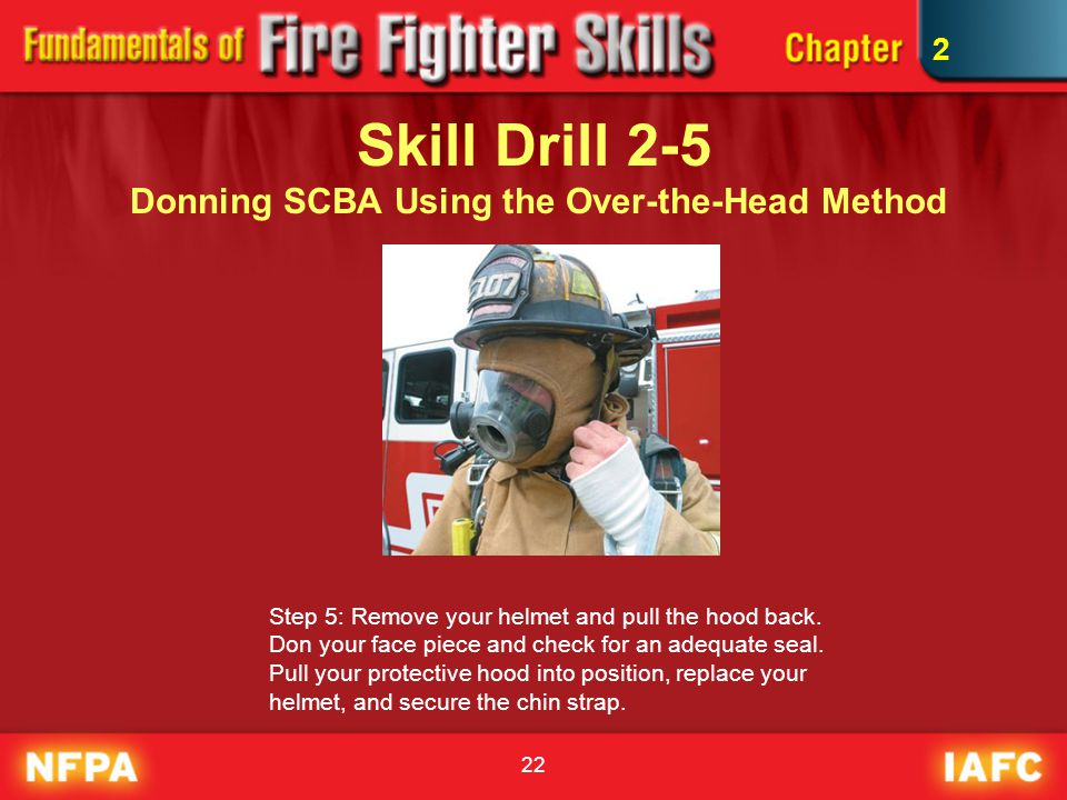 Skill Drill 2-5 Donning SCBA Using the Over-the-Head Method