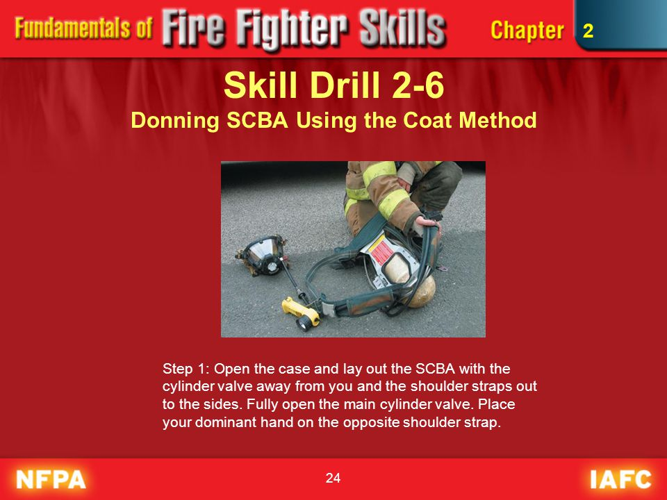 Skill Drill 2-6 Donning SCBA Using the Coat Method