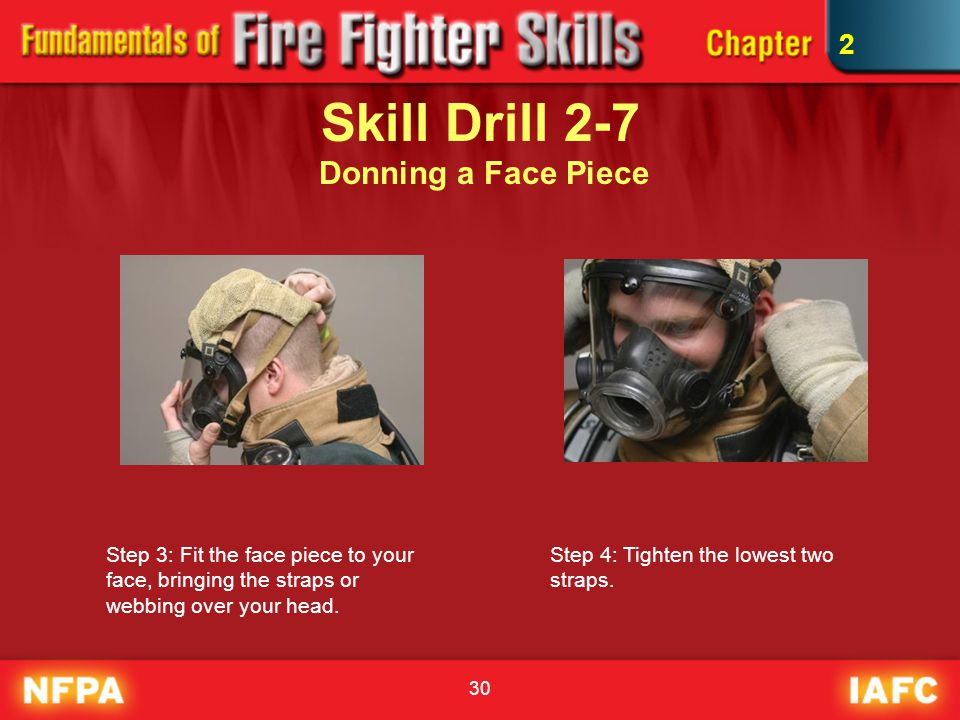 Skill Drill 2-7 Donning a Face Piece