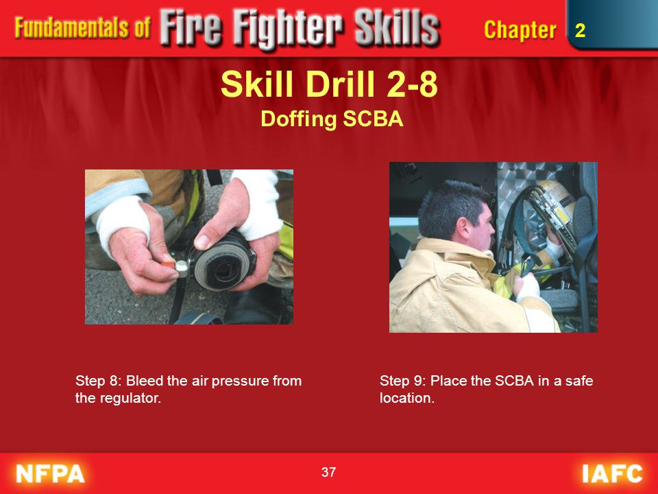 Skill Drill 2-8 Doffing SCBA