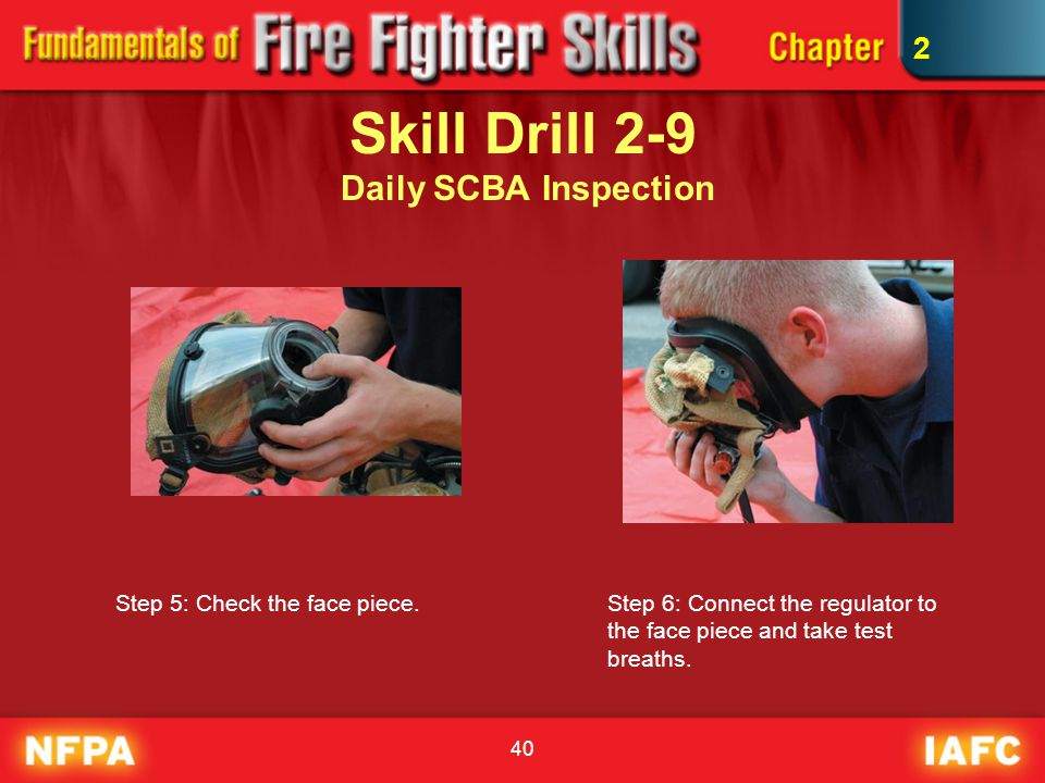Skill Drill 2-9 Daily SCBA Inspection