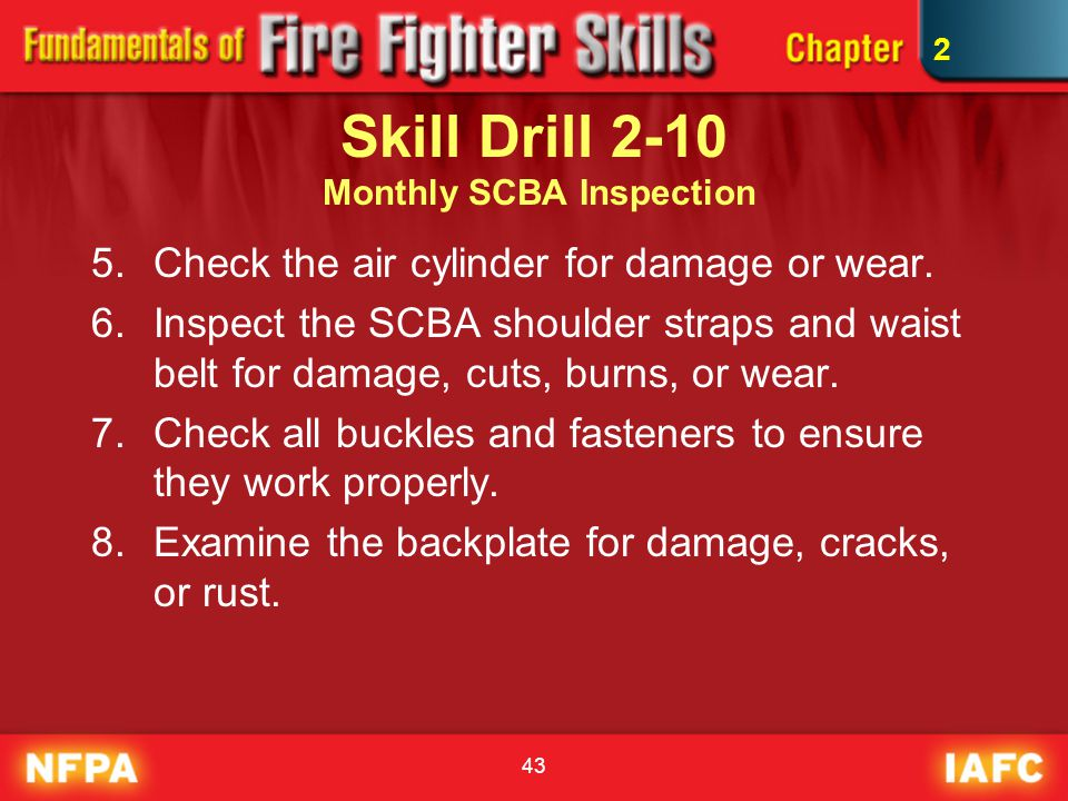Skill Drill 2-10 Monthly SCBA Inspection