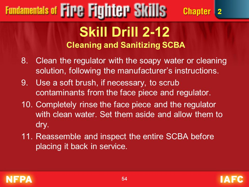 Skill Drill 2-12 Cleaning and Sanitizing SCBA