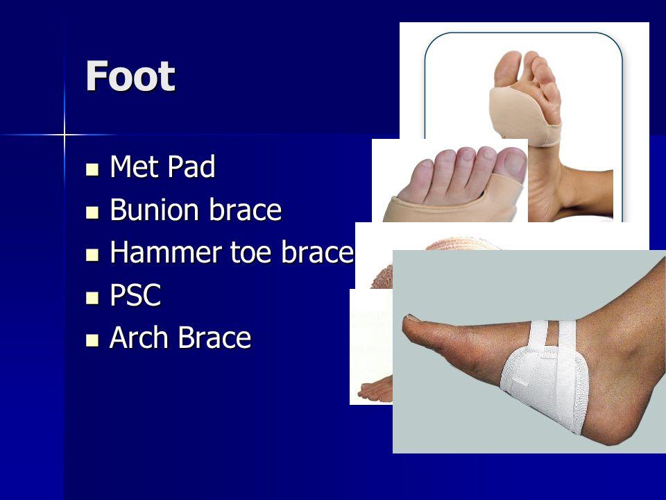 Foot Met Pad Bunion brace Hammer toe brace PSC Arch Brace
