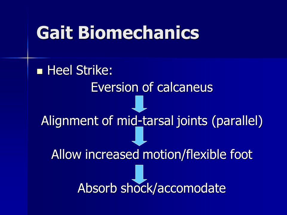Gait Biomechanics Heel Strike: Eversion of calcaneus