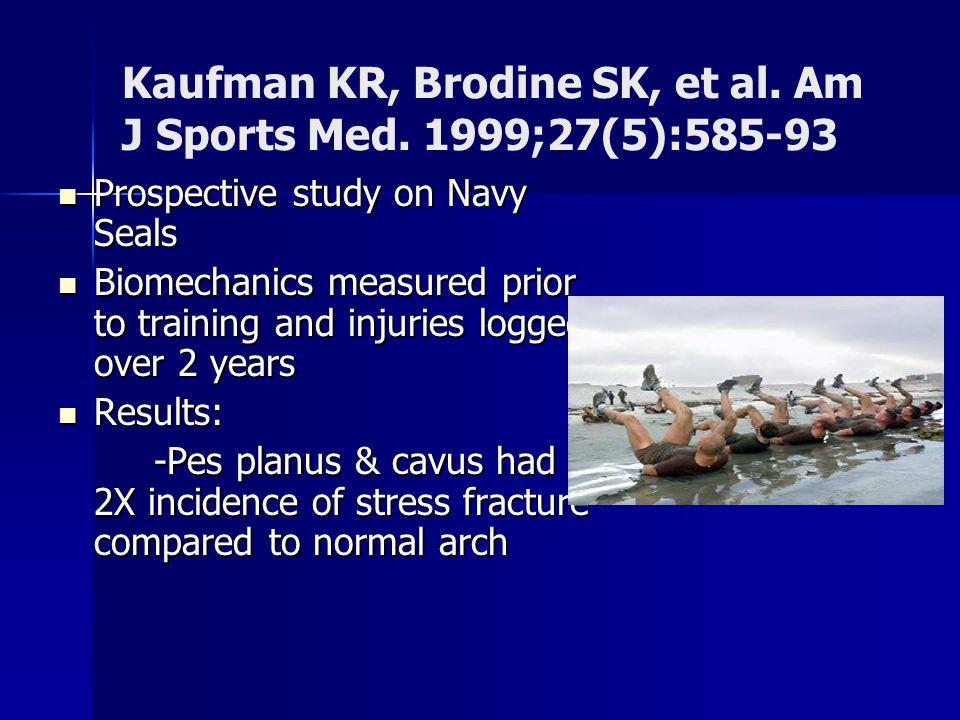 Kaufman KR, Brodine SK, et al. Am J Sports Med. 1999;27(5):585-93