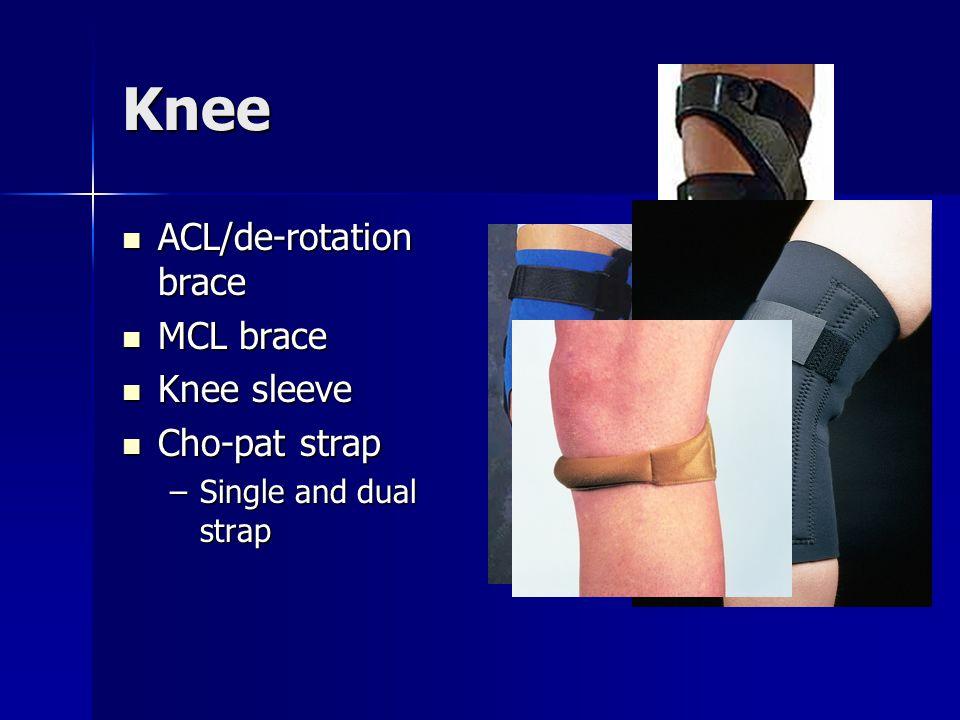 Knee ACL/de-rotation brace MCL brace Knee sleeve Cho-pat strap