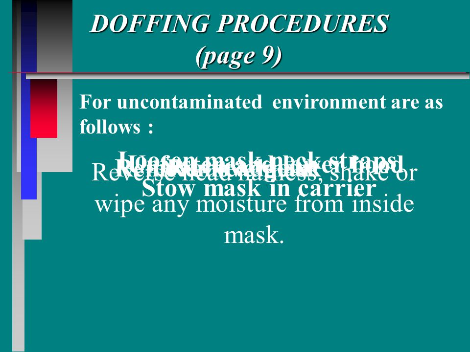 DOFFING PROCEDURES (page 9)