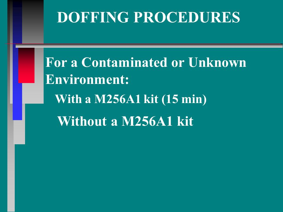 DOFFING PROCEDURES For a Contaminated or Unknown Environment: