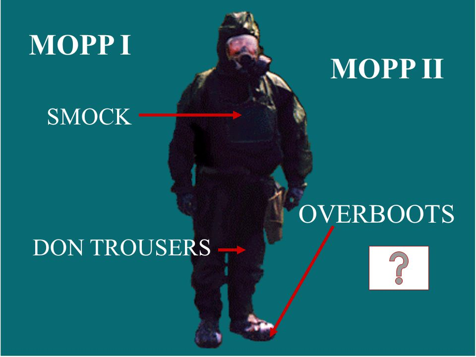 MOPP I DON TROUSERS SMOCK OVERBOOTS MOPP II