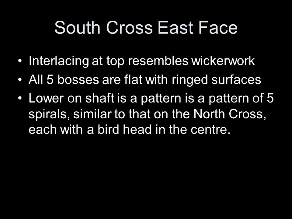 South Cross East Face Interlacing at top resembles wickerwork