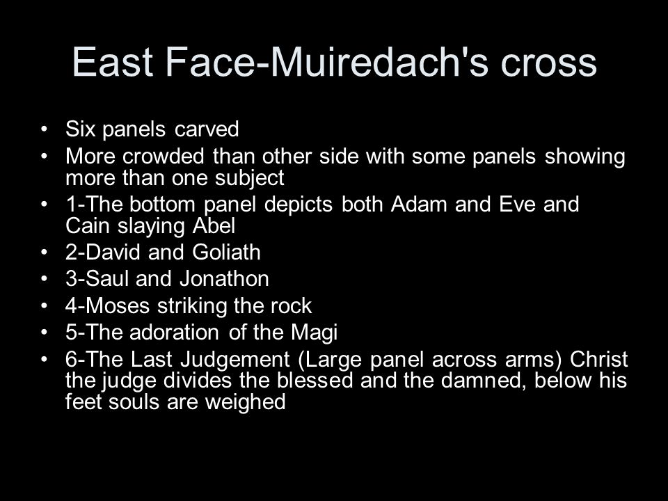 East Face-Muiredach s cross