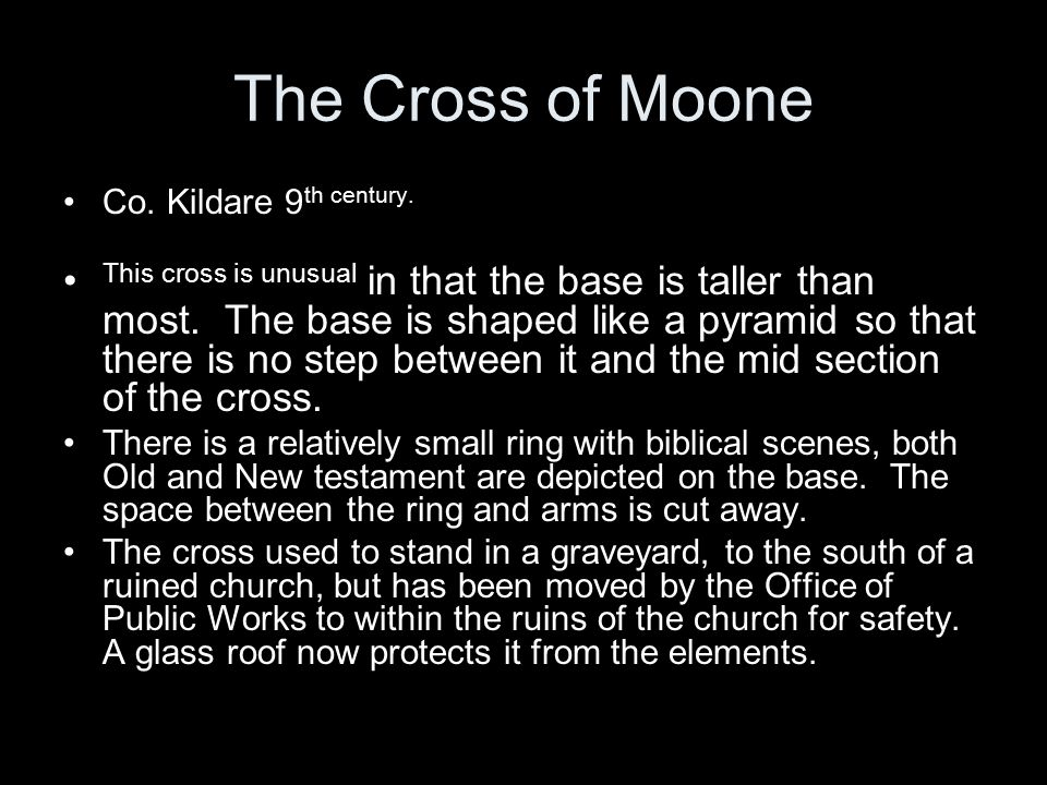 The Cross of Moone Co. Kildare 9th century.