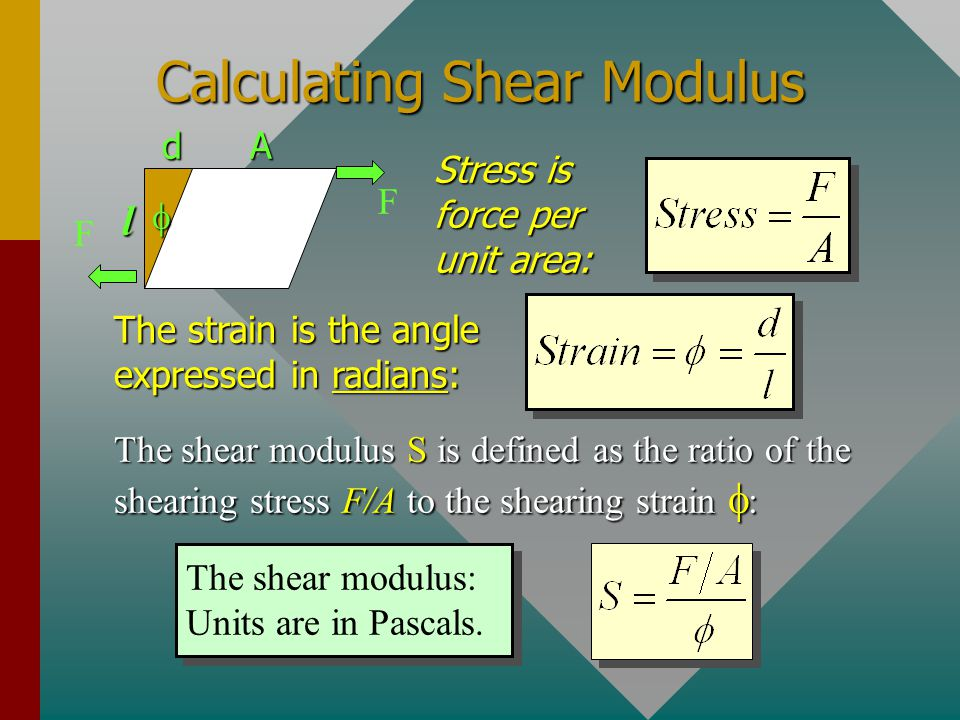 Calculating Shear Modulus