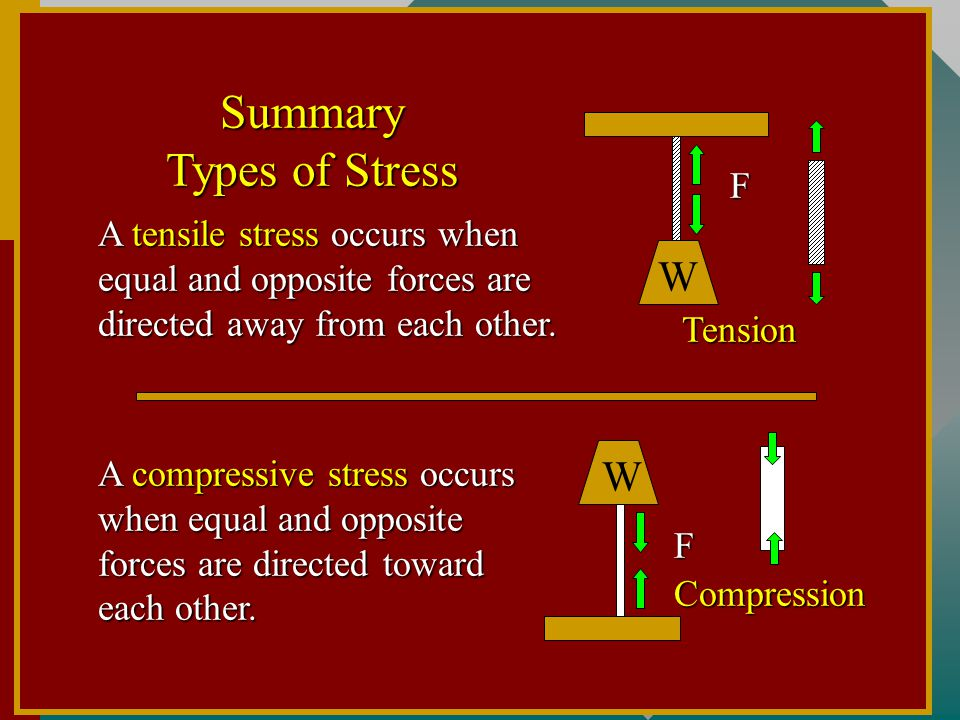 Summary Types of Stress
