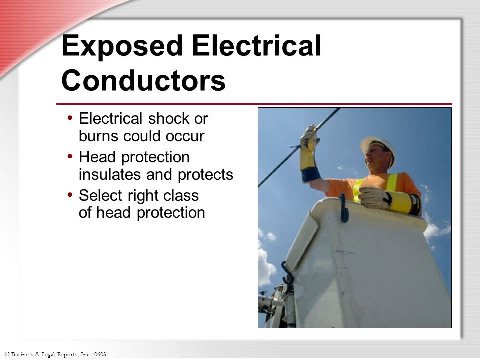 Exposed Electrical Conductors