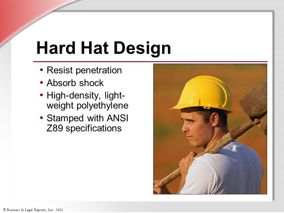 Hard Hat Design Resist penetration Absorb shock