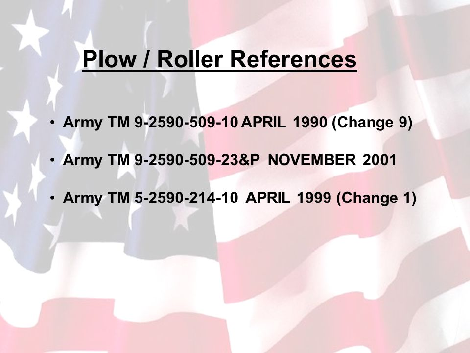 Plow / Roller References