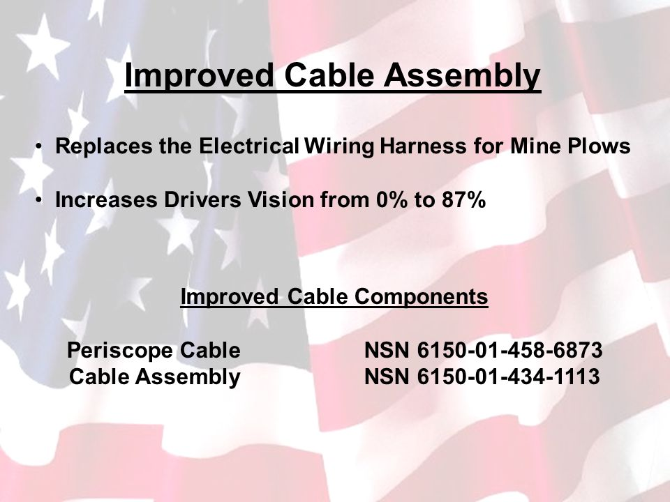 Improved Cable Components Periscope Cable NSN 6150-01-458-6873