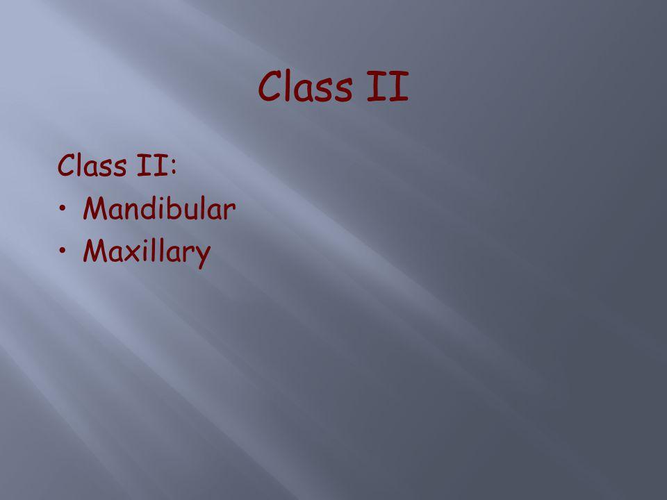 Class II Class II: Mandibular Maxillary