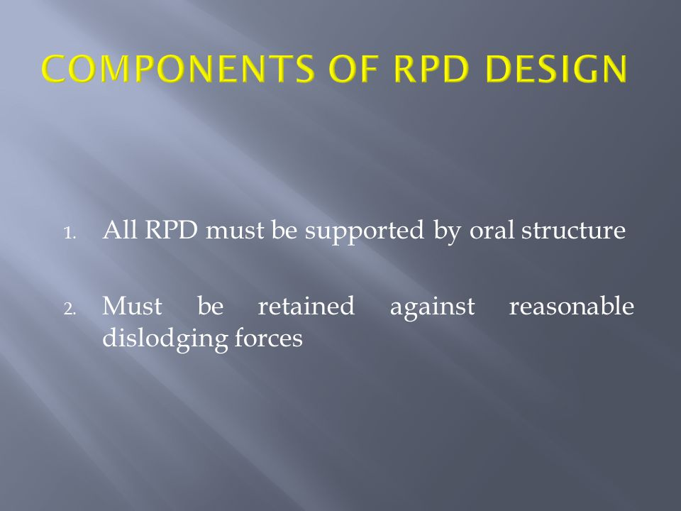 Components of RPD design