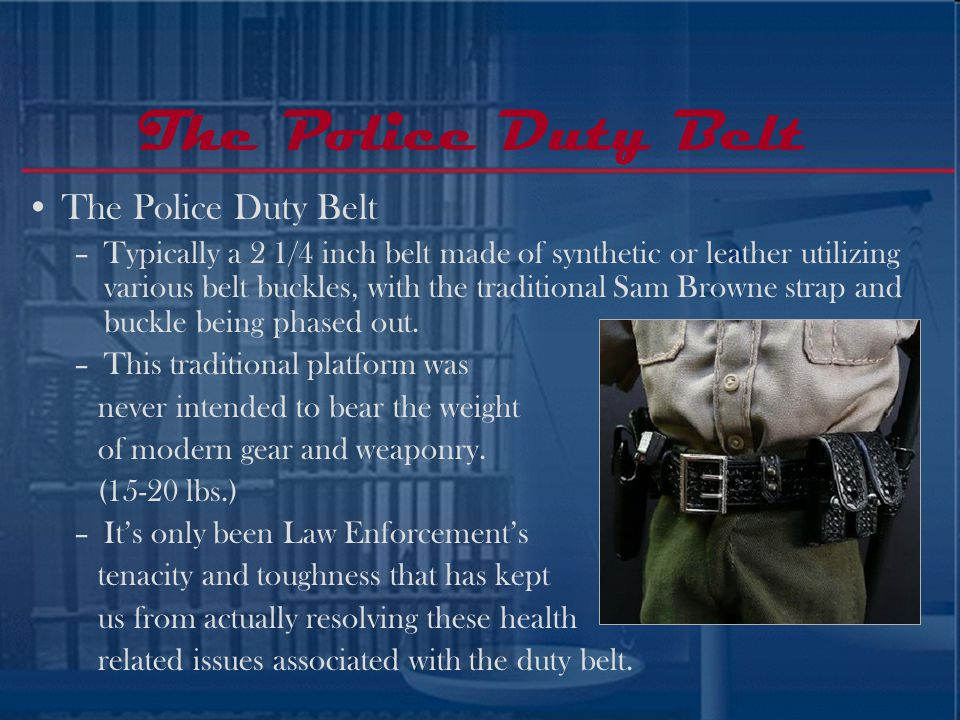 The Police Duty Belt The Police Duty Belt