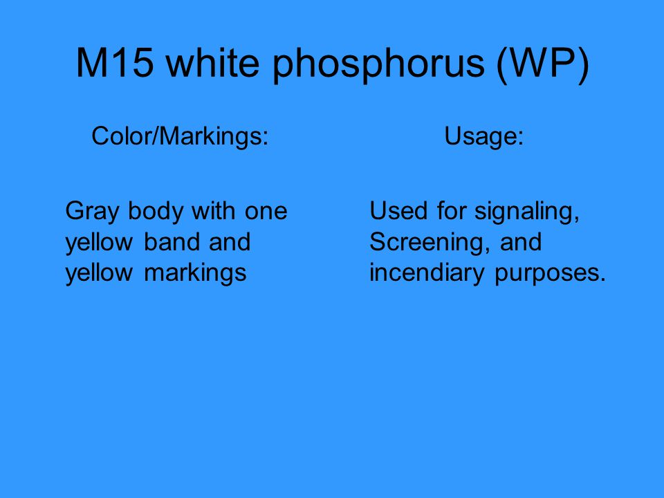 M15 white phosphorus (WP)
