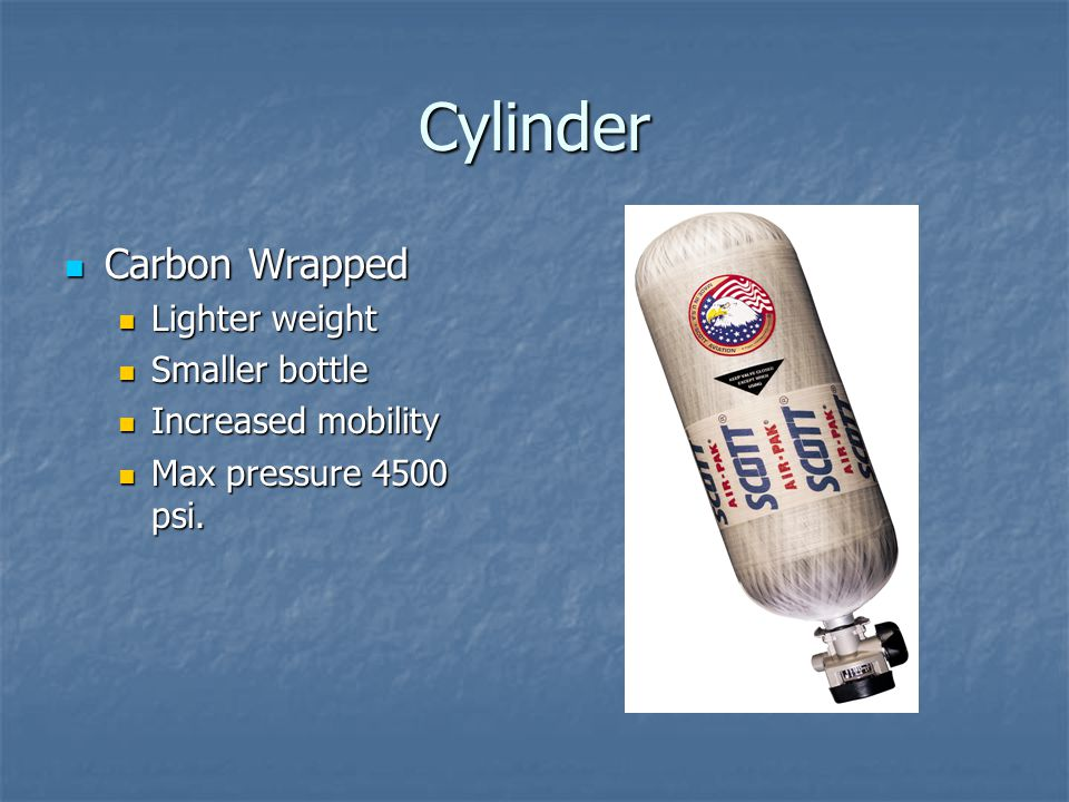 Cylinder Carbon Wrapped Lighter weight Smaller bottle