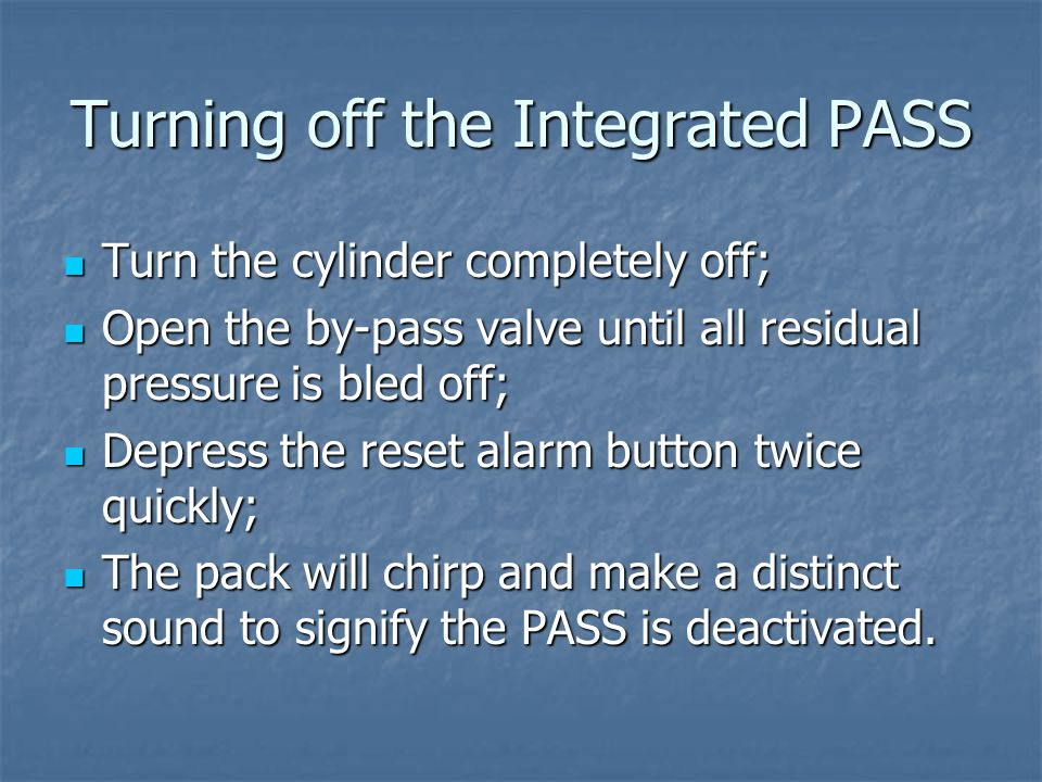 Turning off the Integrated PASS