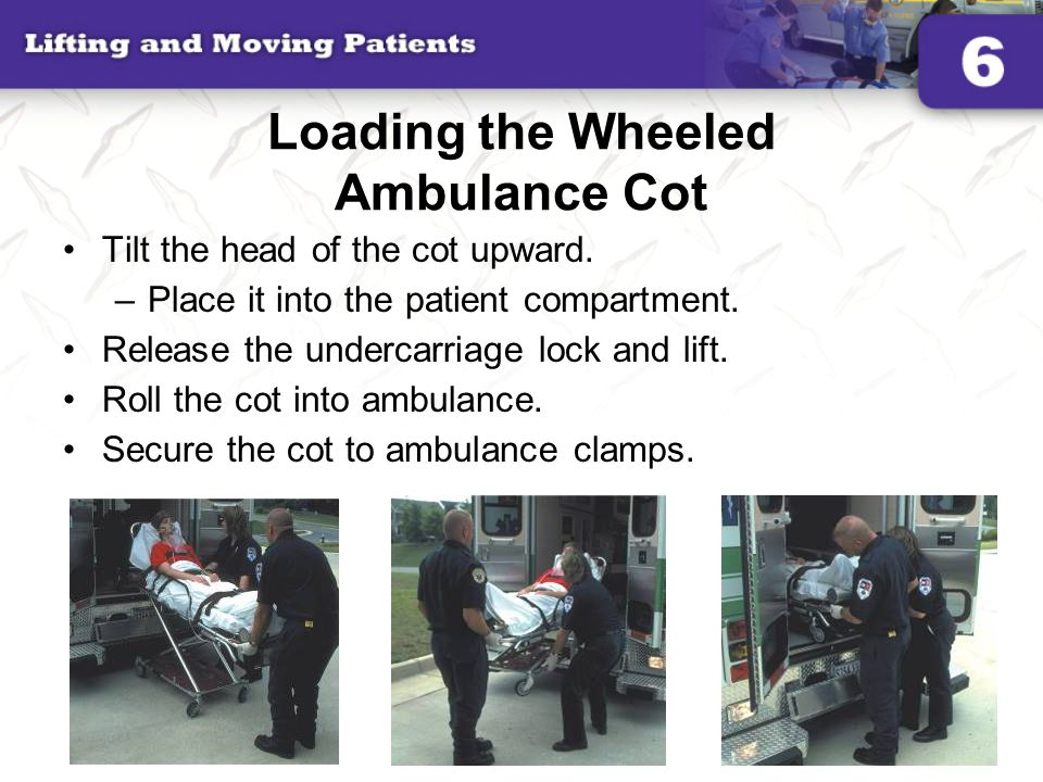 Loading the Wheeled Ambulance Cot
