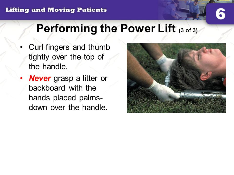 Performing the Power Lift (3 of 3)