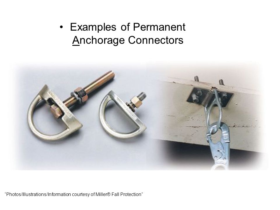 Examples of Permanent Anchorage Connectors