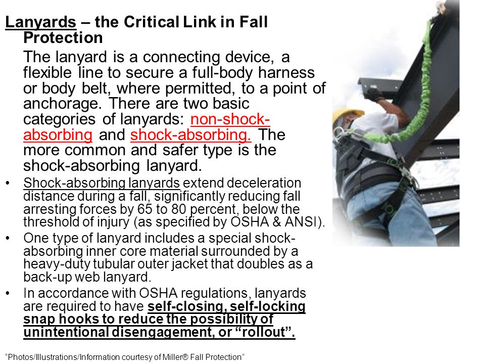 Lanyards – the Critical Link in Fall Protection