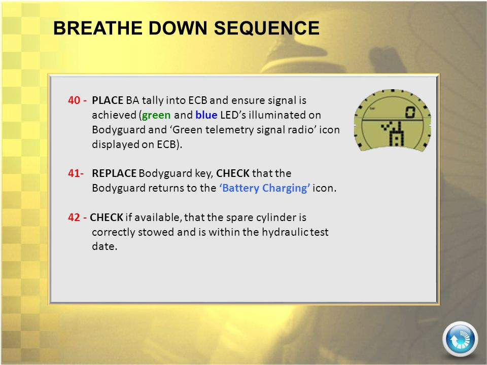 BREATHE DOWN SEQUENCE