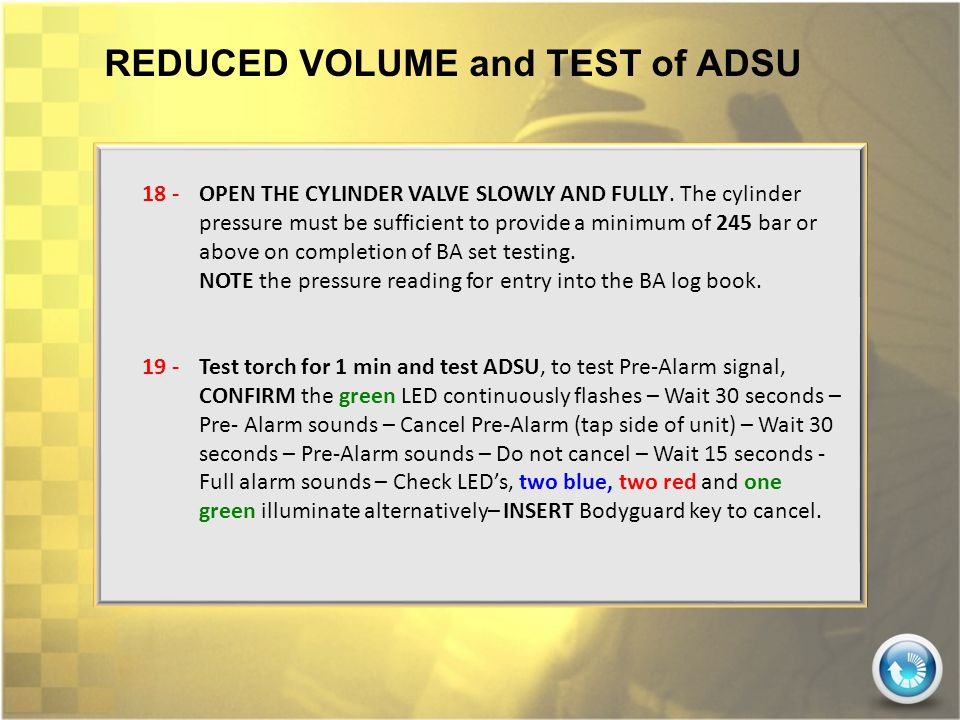 REDUCED VOLUME and TEST of ADSU