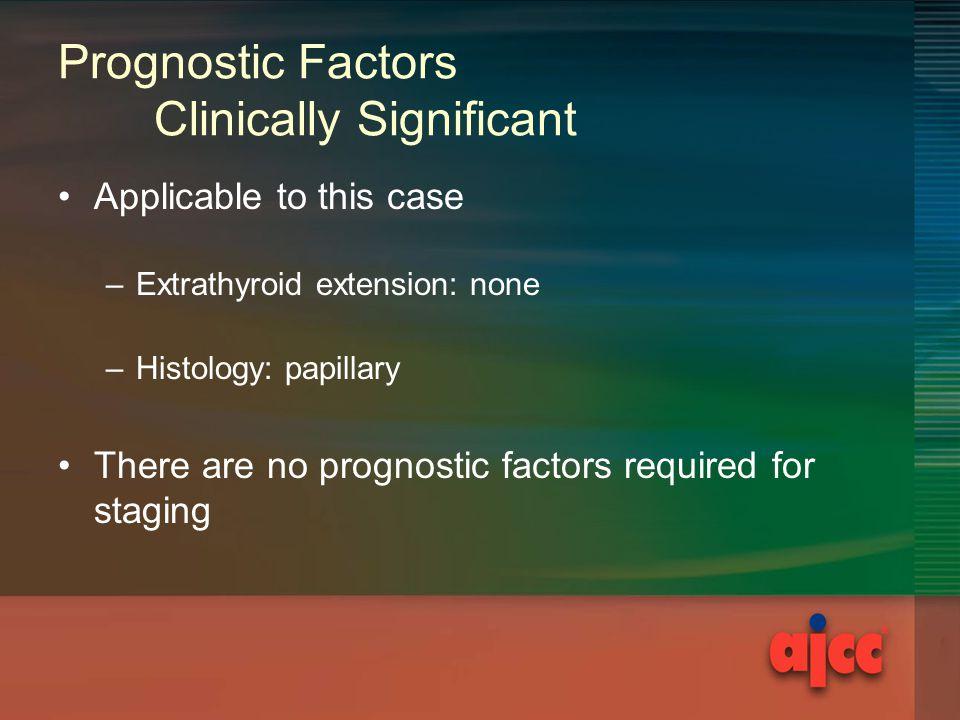 Prognostic Factors Clinically Significant