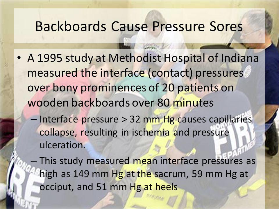 Backboards Cause Pressure Sores