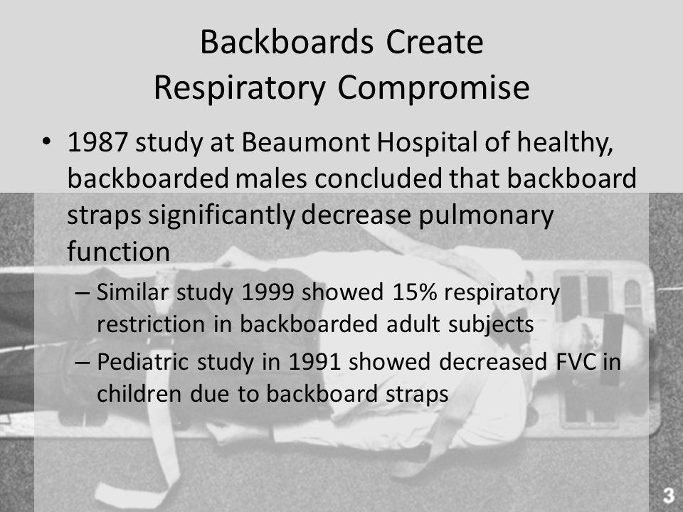 Backboards Create Respiratory Compromise