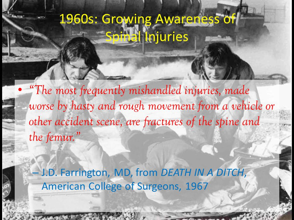 1960s: Growing Awareness of Spinal Injuries