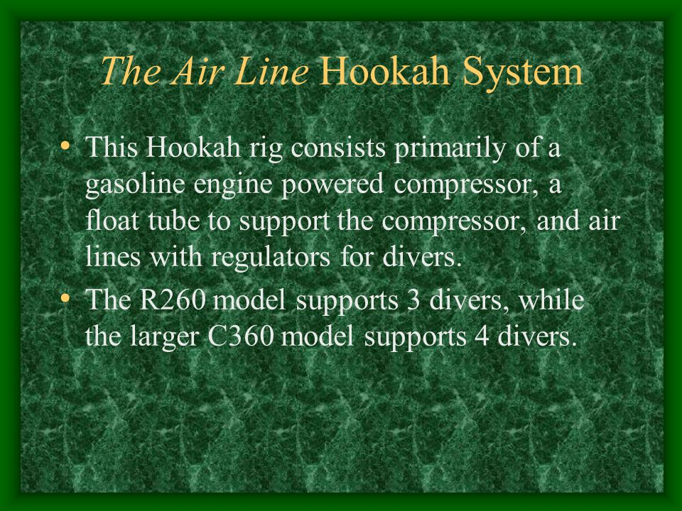 The Air Line Hookah System