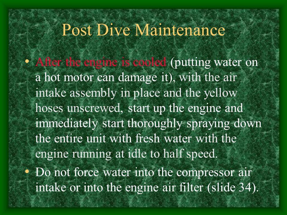 Post Dive Maintenance